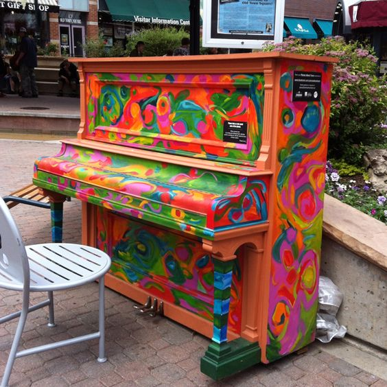 upcycled and repurposed pianos: Piano Art