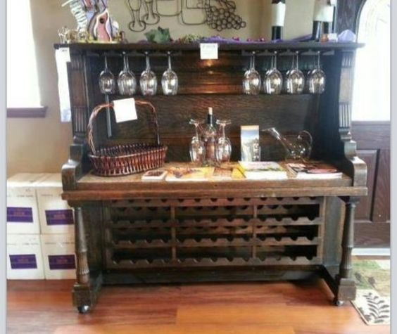upcycled and repurposed pianos: Piano Wine Rack